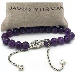 David Yurman Amethyst Spiritual Beaded Bracelet
